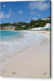 Acrylic Print featuring the photograph Solitude On Dawn Beach by Margaret Bobb