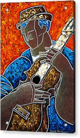 Acrylic Print featuring the painting Solo De Cuatro by Oscar Ortiz