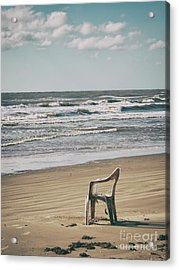 Acrylic Print featuring the photograph Solo On The Beach by Charles McKelroy