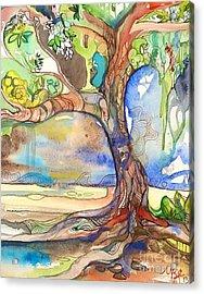 Solo Tree Acrylic Print by Maya Simonson