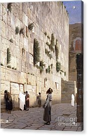 Solomon's Wall, Jerusalem  The Wailing Wall Acrylic Print