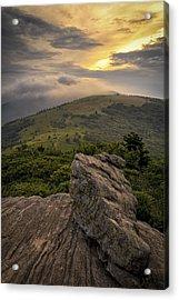 Rocky Sunset - Roan Mountain Acrylic Print