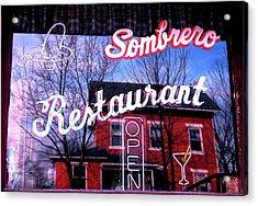 Sombrero Restaurant Acrylic Print by Jame Hayes