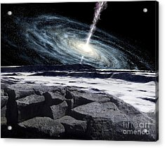 Some Galaxies Have Powerfully Active Acrylic Print by Ron Miller