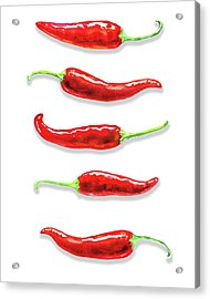 Acrylic Print featuring the painting Some Likes It Hot Red Chili  by Irina Sztukowski
