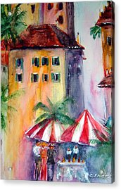 Somehwere In Italy Acrylic Print by Cheryl Ehlers