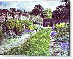 Somerset Garden Acrylic Print by David Lloyd Glover
