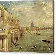 Somerset House Terrace From Waterloo Bridge Acrylic Print by John Constable