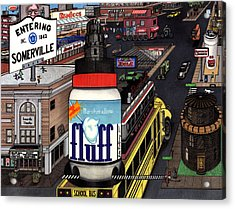 A Strange Day In Somerville  Acrylic Print by Richie Montgomery
