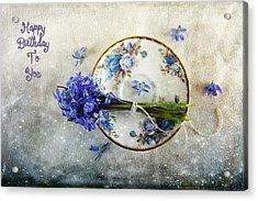 Something Blue For You Acrylic Print by Randi Grace Nilsberg