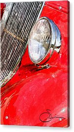 Something Red Acrylic Print by Robert Smith