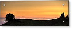 Sometimes The Unexpected Hits You Acrylic Print by Peter Thoeny