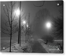 Sometimes Winter Stays A Long Time Acrylic Print by David Bearden