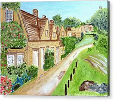 Somewhere In Cotswolds South West England Acrylic Print