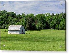 Barn In Green Pasture Acrylic Print