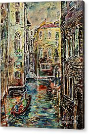 Somewhere In Venice Acrylic Print