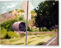 Acrylic Print featuring the painting Somewhere Near Fort Sill Oklahoma by Charlie Spear