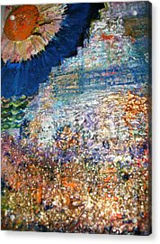 Somewhere On Jupiter Acrylic Print by Anne-Elizabeth Whiteway