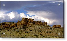Somewhere Out West Acrylic Print by Ralph  Perdomo
