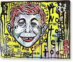 Somtimes I Worry Acrylic Print by Robert Wolverton Jr
