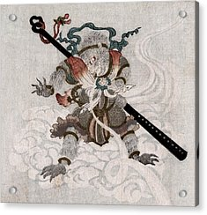 Son Goku, The Monkey King. Japanese Acrylic Print by Everett