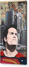 Son Of Krypton Acrylic Print