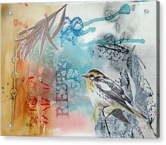 Acrylic Print featuring the mixed media Song Of Life  by Rose Legge
