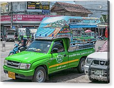Acrylic Print featuring the photograph Songthaew Minibus by Antony McAulay