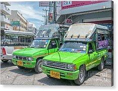 Acrylic Print featuring the photograph Songthaew Taxi by Antony McAulay