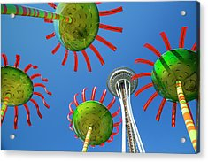 Acrylic Print featuring the photograph Sonic Bloom In Seattle Center by Adam Romanowicz