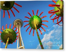 Sonic Bloom Acrylic Print by Inge Johnsson