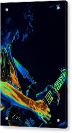 Sonic Guitar Explosions Art 1 Acrylic Print by Ben Upham