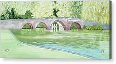 Sonning Bridge  Acrylic Print by Joanne Perkins