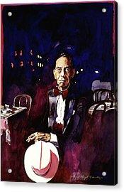 Sonny Greer Jazz Drummer Acrylic Print by David Lloyd Glover