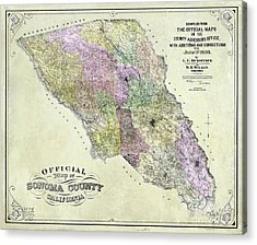 Sonoma County Map 1900 Acrylic Print
