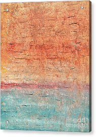 Sonoran Desert #1 Southwest Vertical Landscape Original Fine Art Acrylic On Canvas Acrylic Print