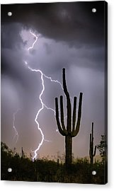 Acrylic Print featuring the photograph Sonoran Desert Monsoon Storming by James BO Insogna