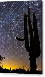 Sonoran Startrails - Reaching For The Stars Acrylic Print