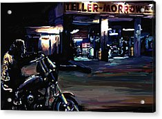 Sons Of Anarchy Jax Teller Signed Prints Available At Laartwork.com Coupon Code Kodak Acrylic Print by Leon Jimenez
