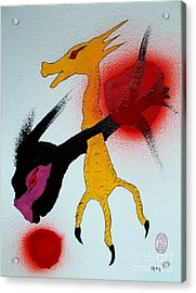 Acrylic Print featuring the painting Sonzai No Tame Ni Tatakau Tane by Pg Reproductions