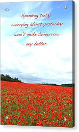 Soothing Poppies Acrylic Print