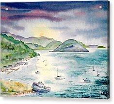 Sopers Hole Sunset Acrylic Print