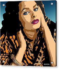 Acrylic Print featuring the digital art Sophia by John Keaton