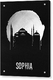 Sophia Landmark Black Acrylic Print by Naxart Studio