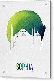 Sophia Landmark Red Acrylic Print by Naxart Studio