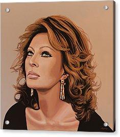 Sophia Loren 3 Acrylic Print by Paul Meijering