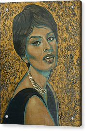 Sophia Loren Acrylic Print by Jovana Kolic
