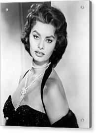 Sophia Loren, Portrait Circa 1957 Acrylic Print by Everett