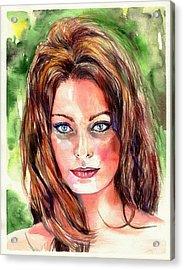 Sophia Loren Portrait Acrylic Print