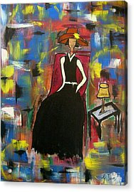 Sophisticared Lady Acrylic Print by Glenda  Jones